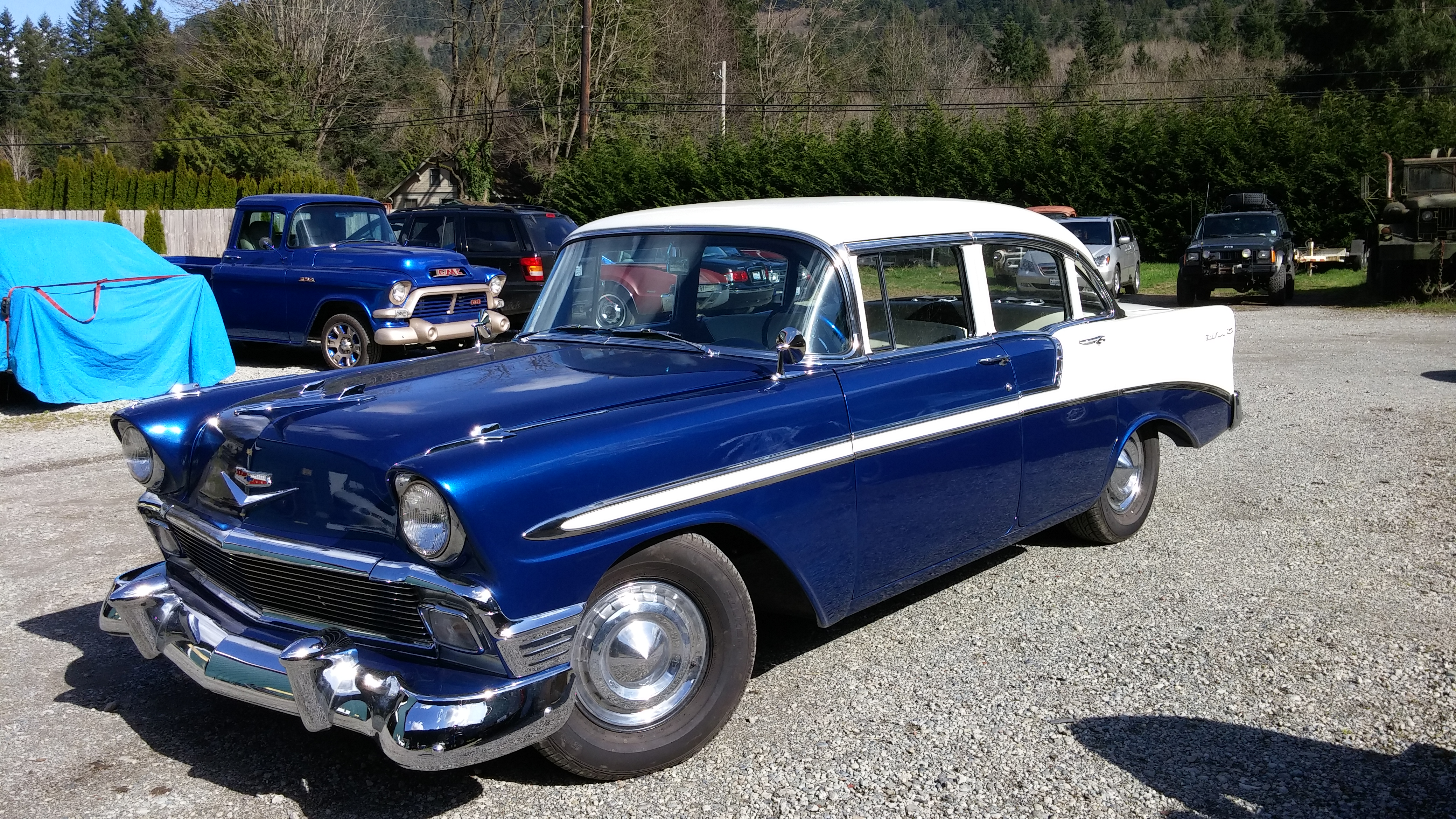 The brinkley s 1956 chevy bel air 4 door sedan restomod for 1956 chevy 4 door